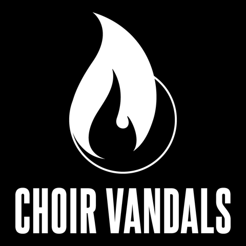 "Choir Vandals ""Flame Logo"" 4"" x 4"" Sticker"