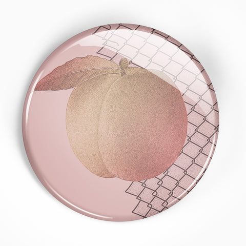 "Culture Abuse ""Peach"" 2.25"" Button"