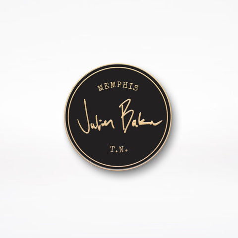 "Julien Baker ""Stamp"" Enamel Pin - Gold"
