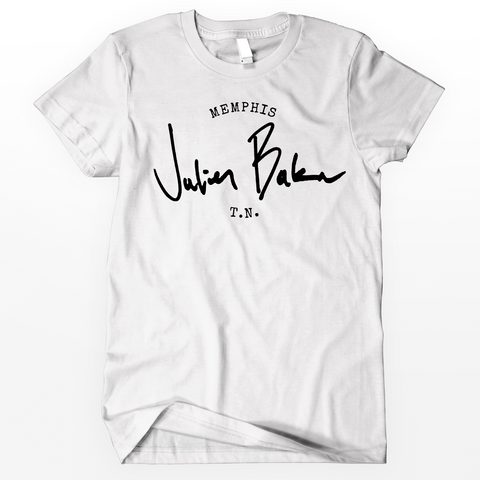 "Julien Baker ""Stamp"" Shirt (White)"