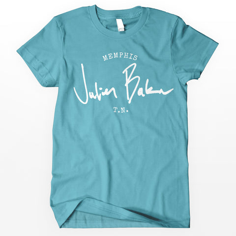 "Julien Baker ""Stamp"" Shirt - Blue"