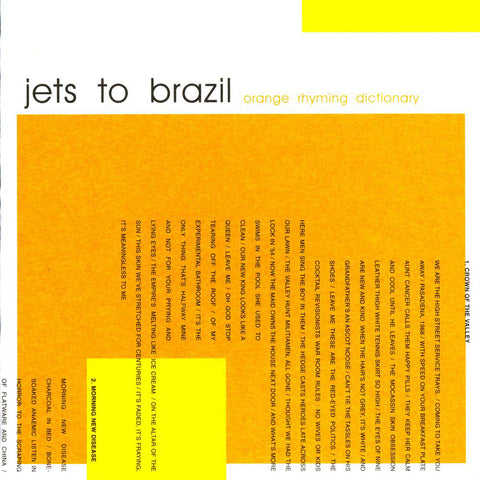 "Jets To Brazil ""Orange Rhyming Dictionary"" 2xLP"