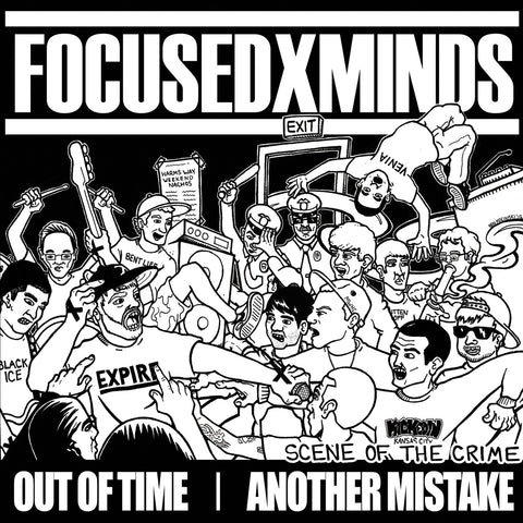 "Focused Minds / Out Of Time / Another Mistake ""Scene of The Crime"" 7"""