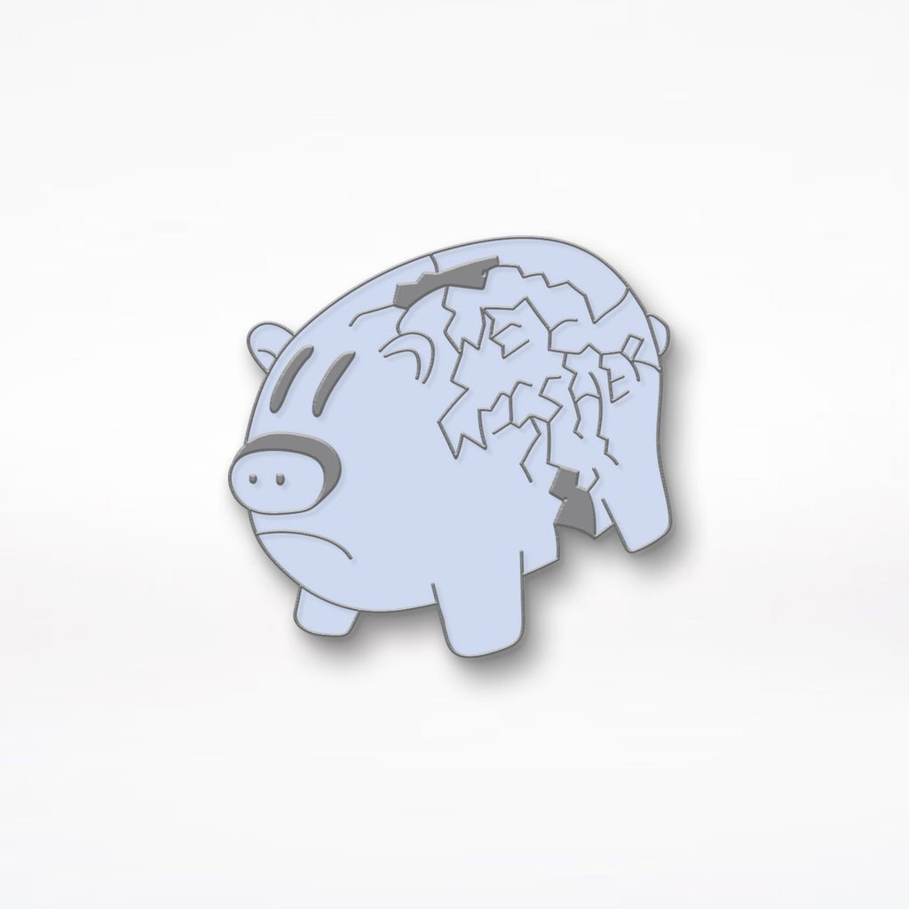 "Well Wisher ""Pig"" Enamel Pin - Blue"