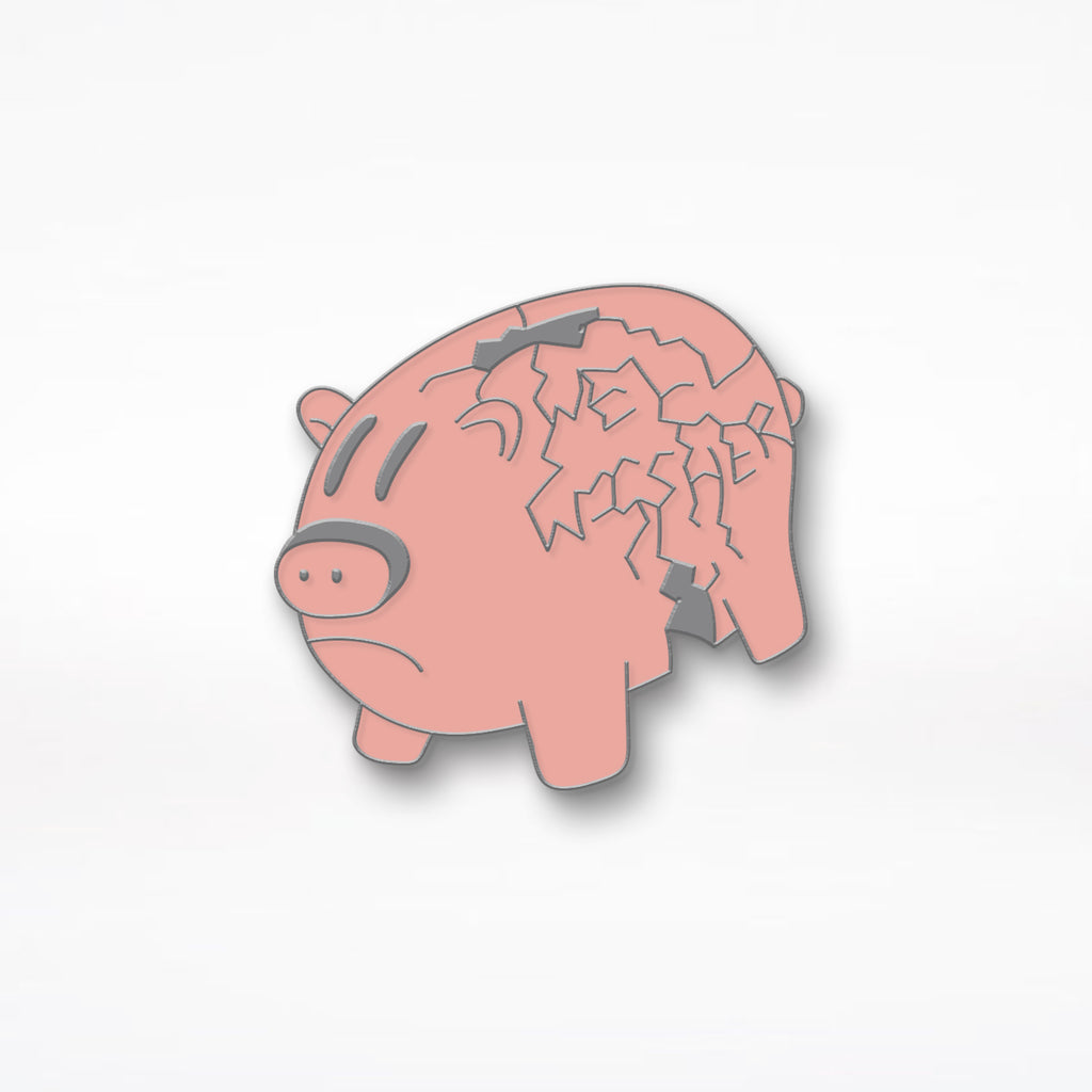 "Well Wisher ""Pig"" Enamel Pin - Pink"