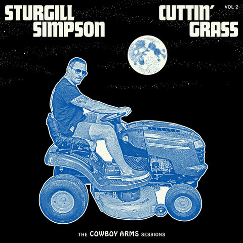 "Sturgill Simpson ""Cuttin' Grass, Vol. 2: The Cowboy Arms Sessions"" LP (Blue + White Swirl Vinyl)"