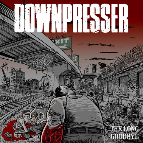"Downpresser ""The Long Goodbye"" LP (Red & Silver Mix Vinyl)"