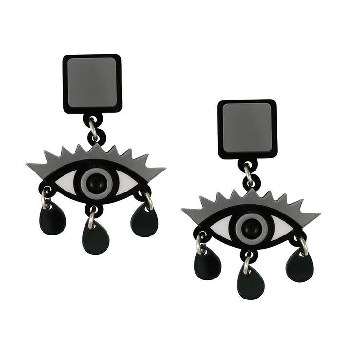 An Eye for an Eye Earrings in Silver