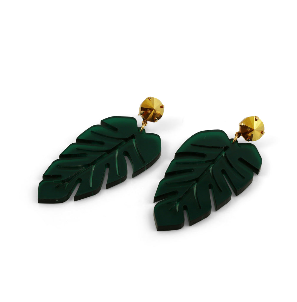 Banana Leaf Earrings