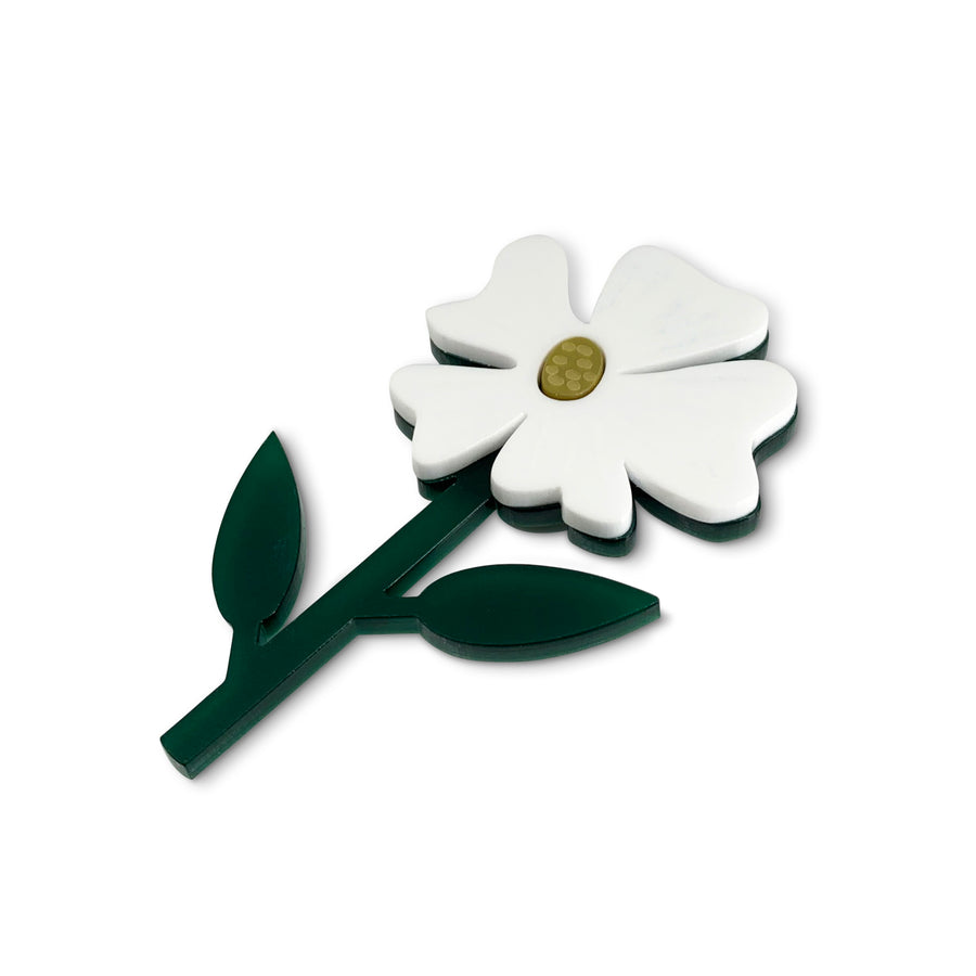Jennifer Loiselle laser cut acrylic flower statement brooch