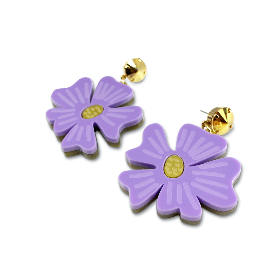 Jennifer Loiselle laser cut acrylic floral blossom earrings