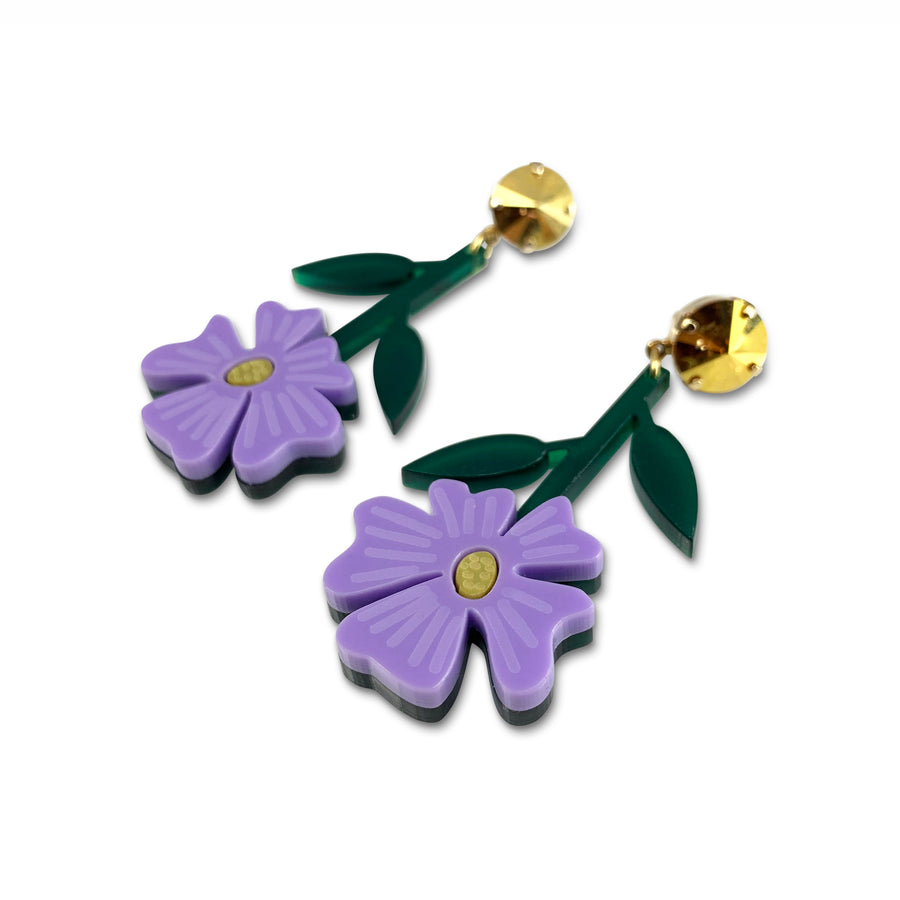 Blossom Earrings in Lavender