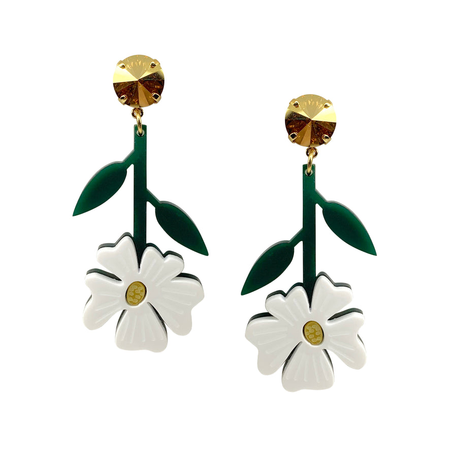 Blossom Earrings in White