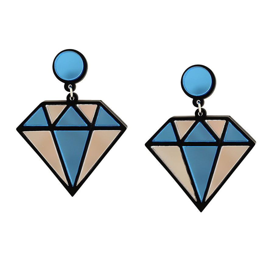 Jennifer Loiselle laser cut acrylic diamond earrings
