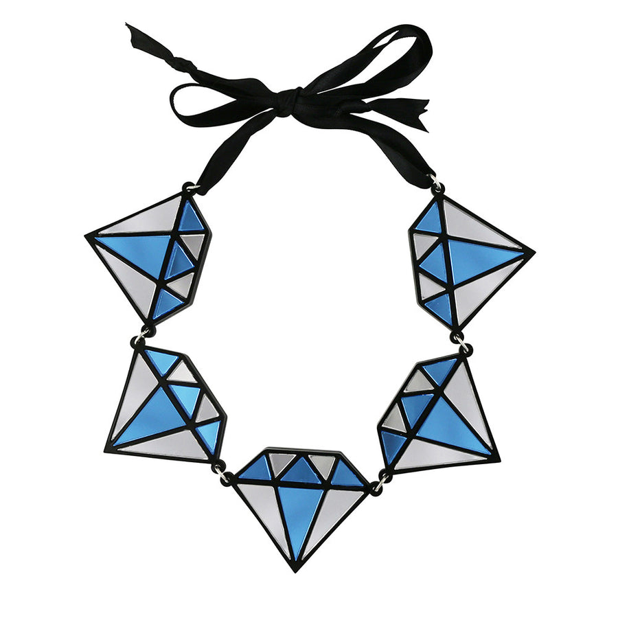 Jennifer Loiselle laser cut acrylic diamond necklace