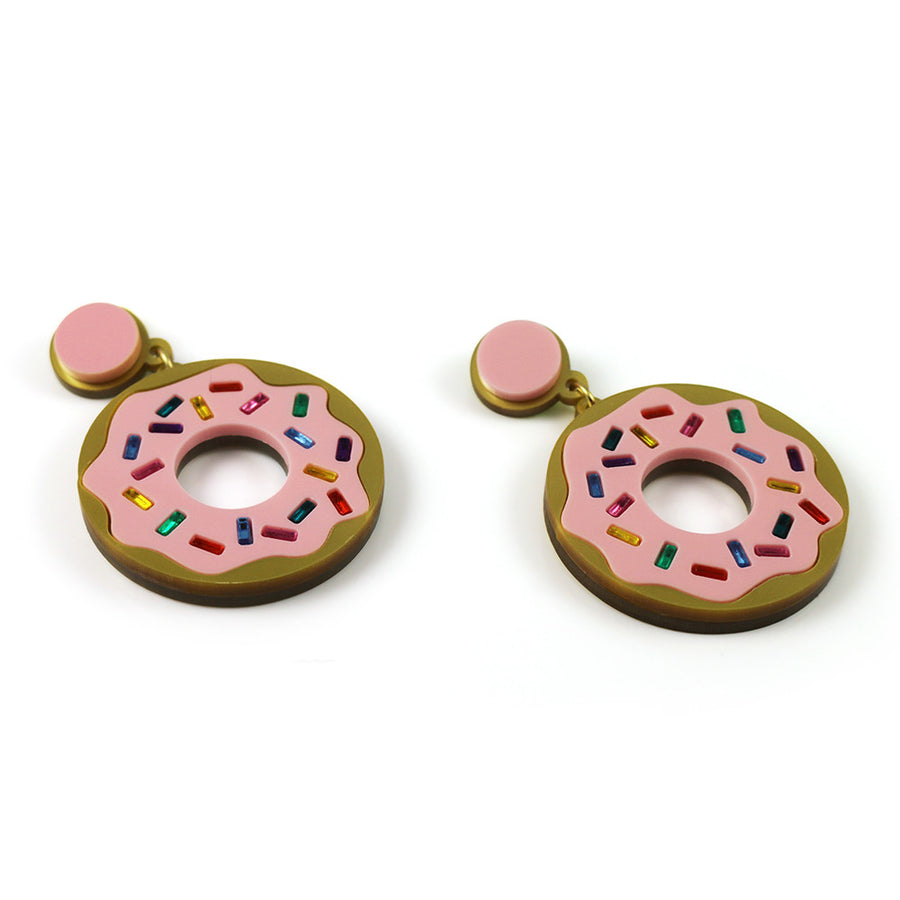 Jennifer Loiselle laser cut acrylic donut earrings