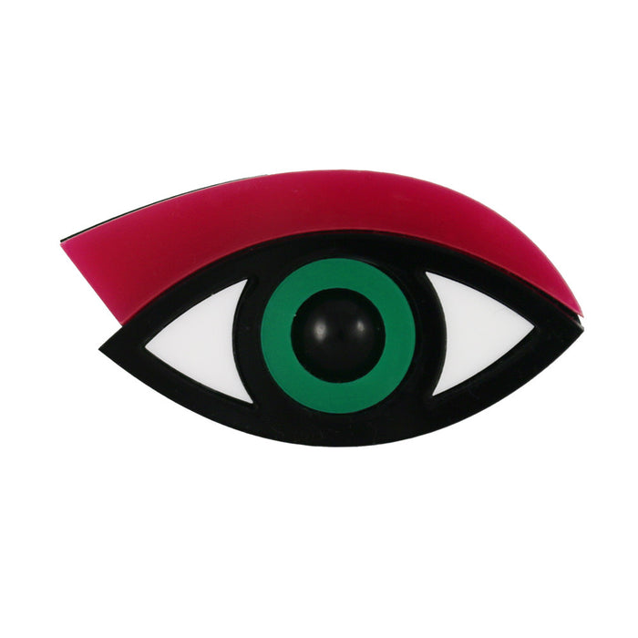 Easy on the Eye Brooch in fuchsia