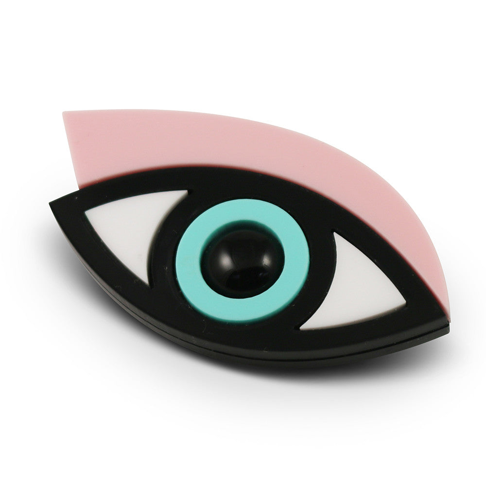 Easy on the Eye Brooch in pink