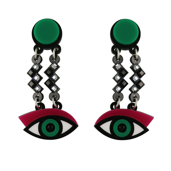 Easy on the Eye earrings in fuchsia