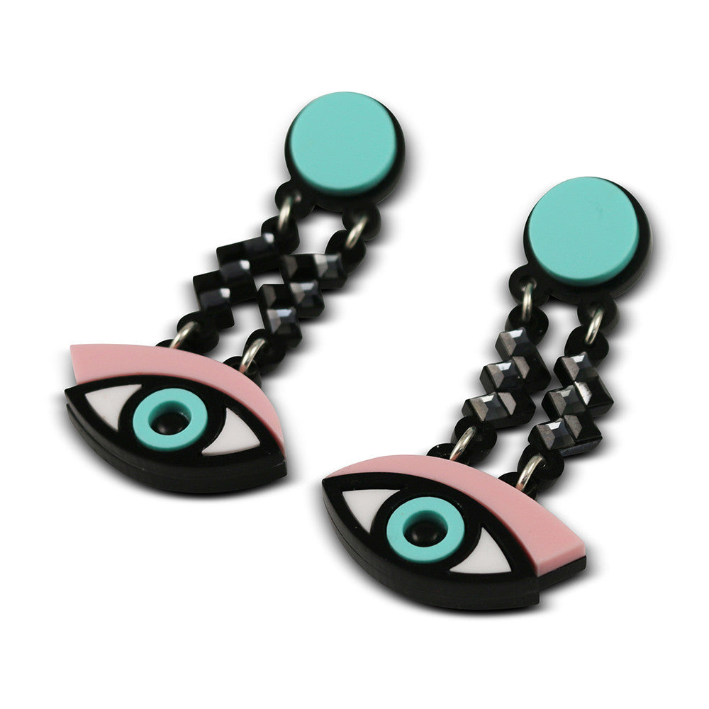 Easy on the Eye earrings in pink