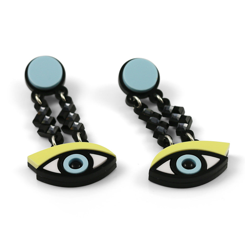 Easy on the Eye earrings in yellow