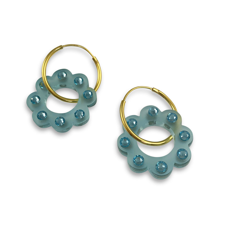 Jennifer Loiselle floral hoop earrings