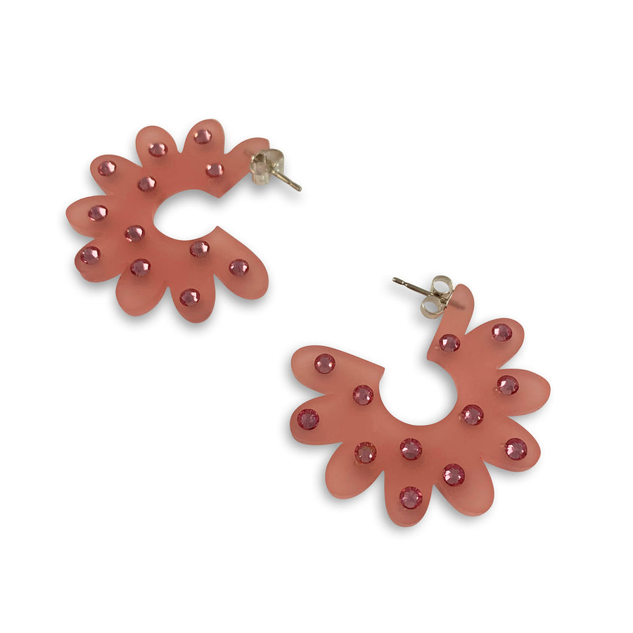 Jennifer Loiselle floral demi-hoop earrings