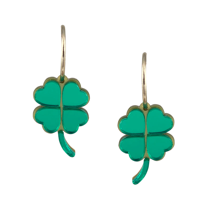 Jennifer Loiselle Four Leaf Clover earrings