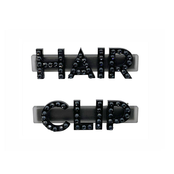 Hair Clip Swarovski Hair Clips in Black