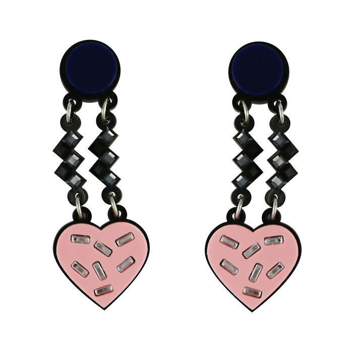 Have a Heart Earrings in pink