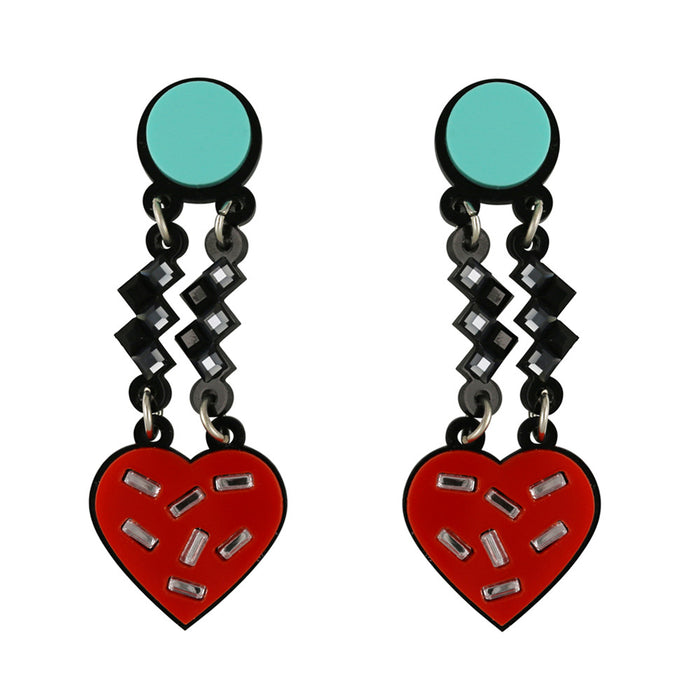 Have a Heart Earrings in red