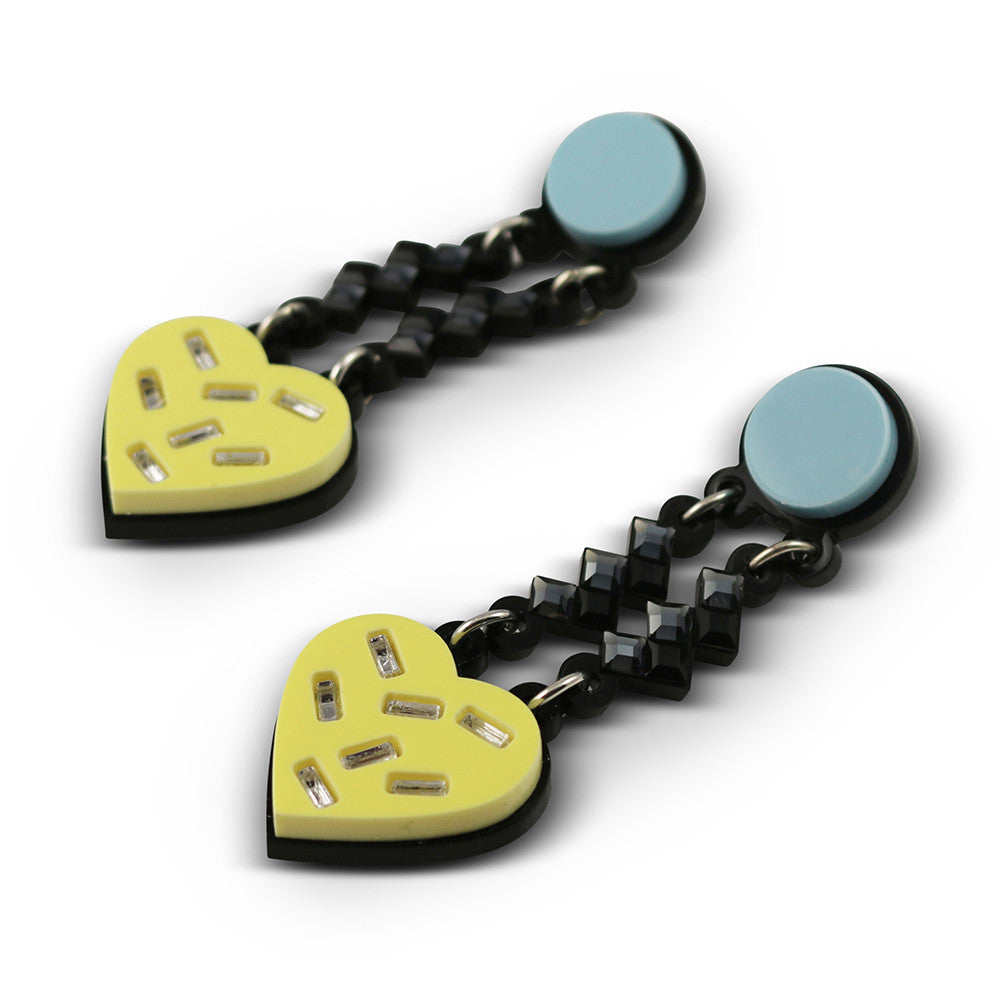 Have a Heart Earrings in yellow