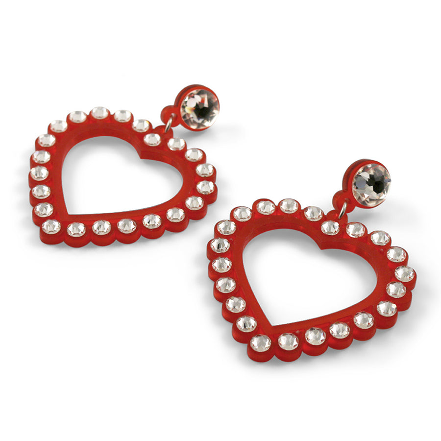 Jennifer Loiselle Swarovski heart earrings