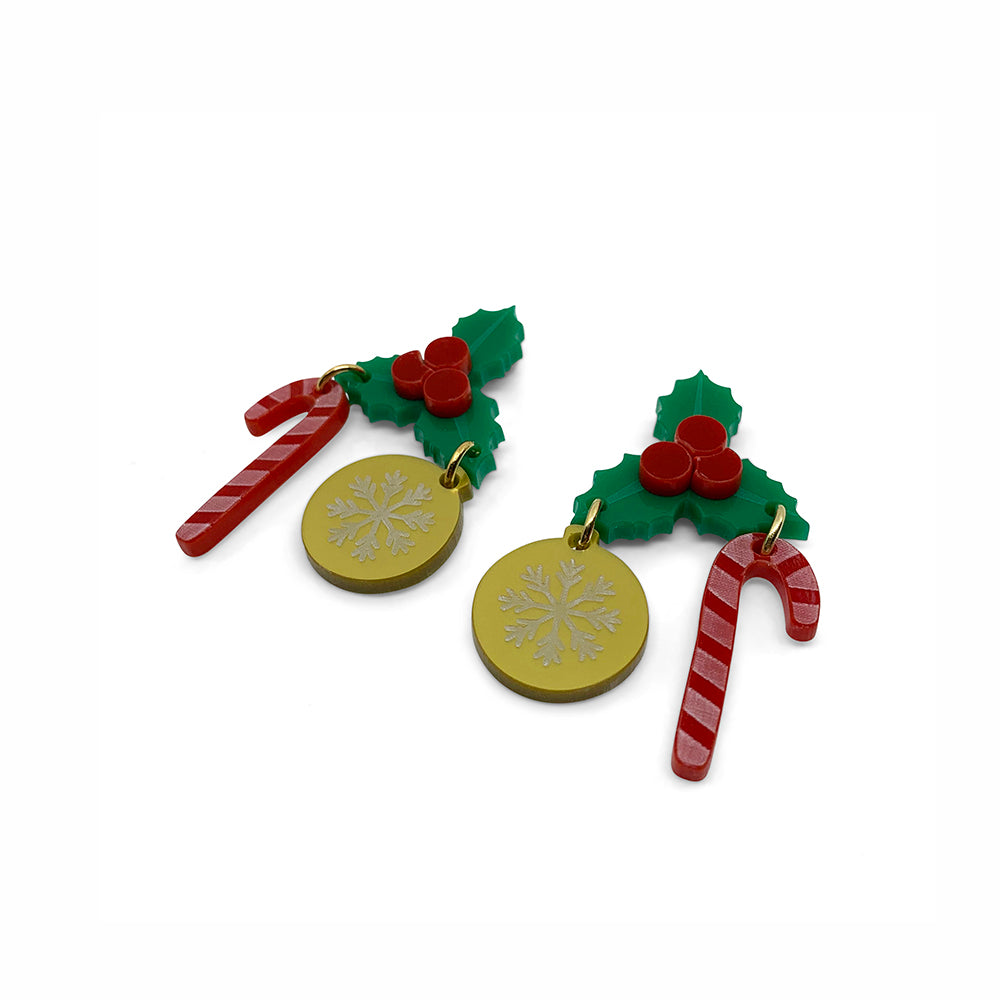 Jolly Holly Earrings