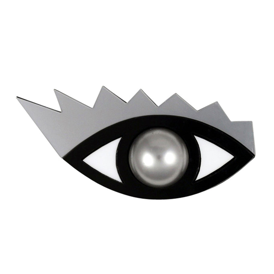 I Can't Take My Eyes Off You Brooch in silver