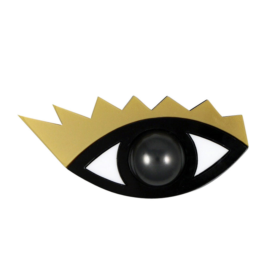 Jennifer Loiselle laser cut acrylic Eye brooch