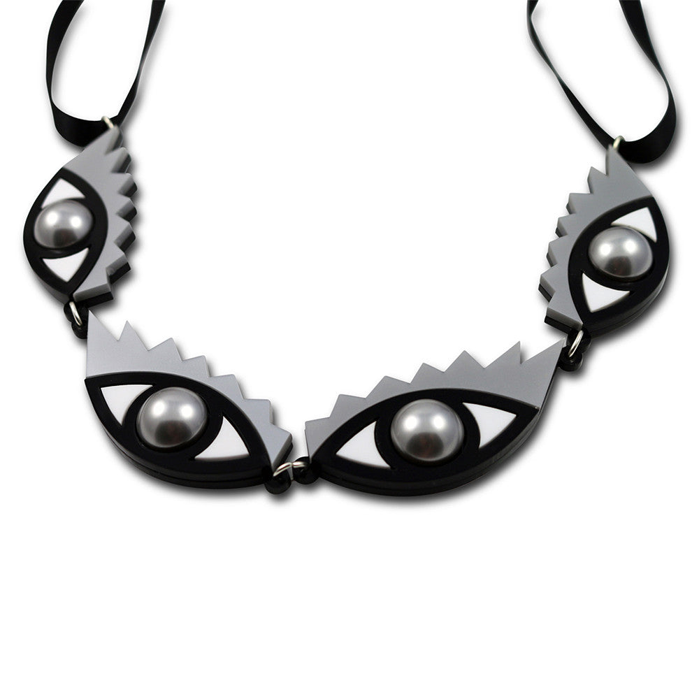 I Can't Take My Eyes Off You Necklace in silver