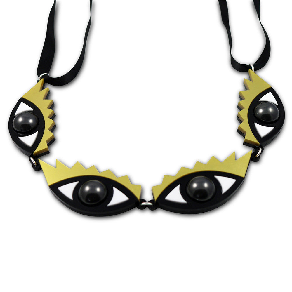 I Can't Take My Eyes Off You Necklace in gold
