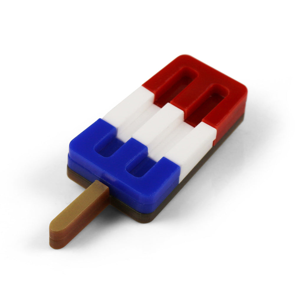 Ice Lolly Brooch - Red White and Blue