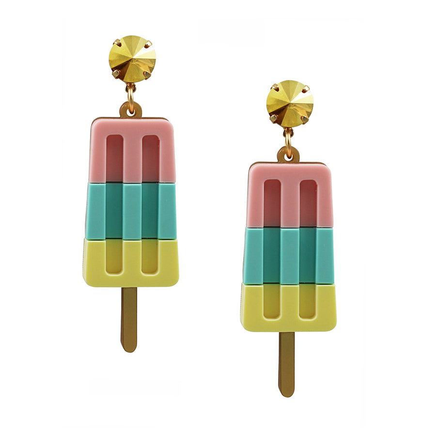 Jennifer Loiselle laser cut acrylic ice lolly statement  earrings