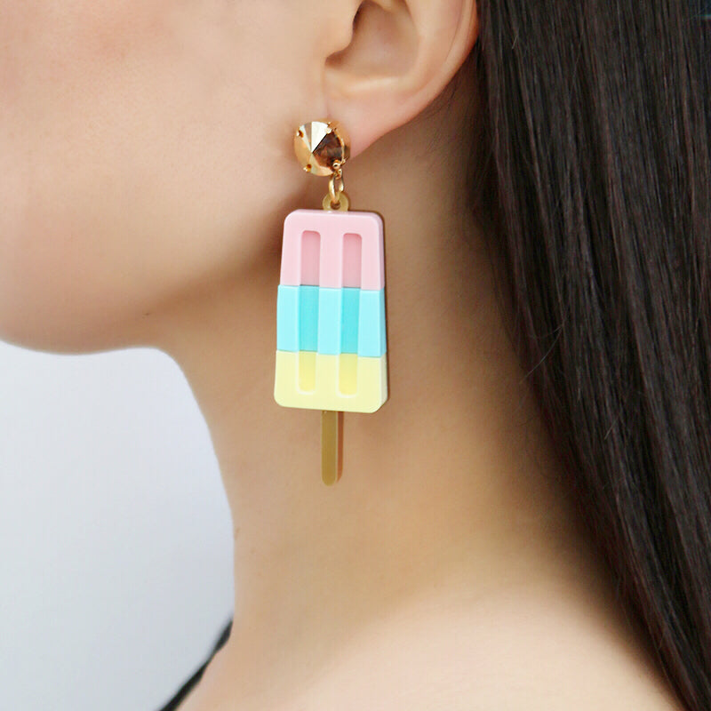 Ice Lolly Earrings - Pastel