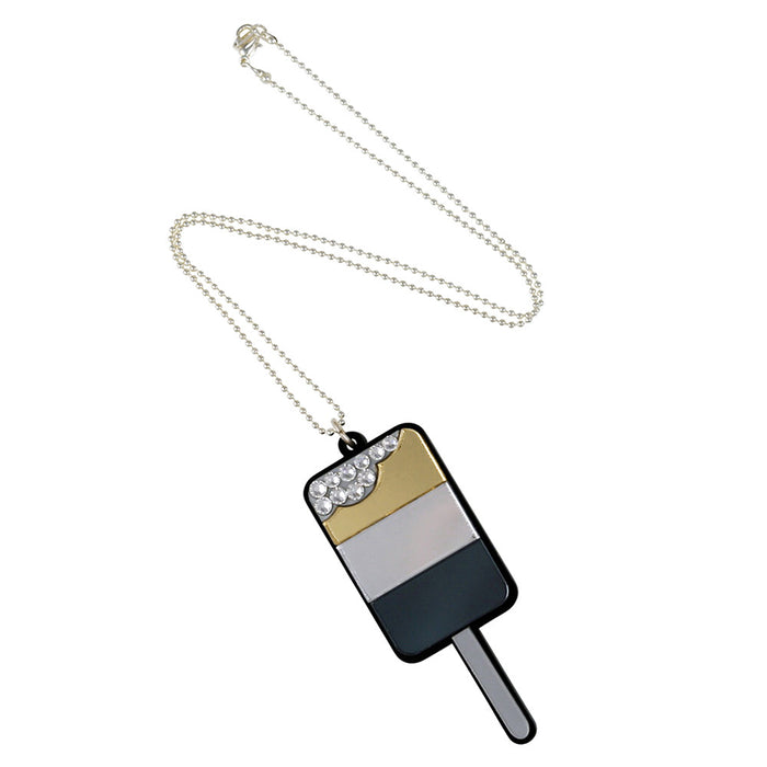 Ice Pop Necklace - Gold Silver Black