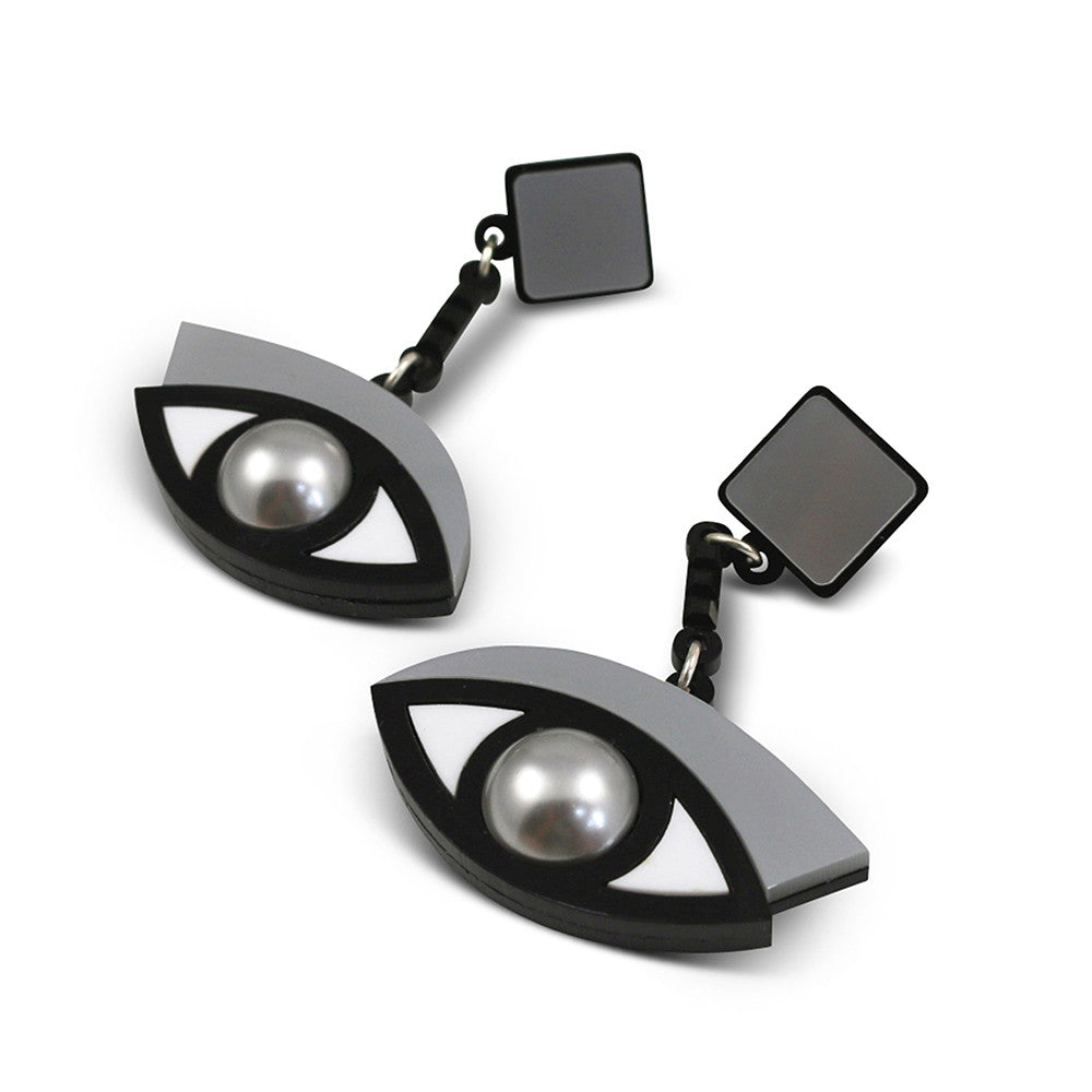 In the Blink of an Eye Earrings in silver