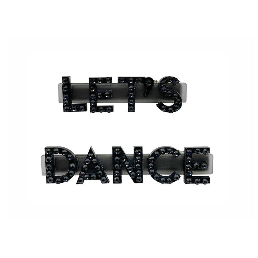 Let's Dance Swarovski Hair Clips in Black