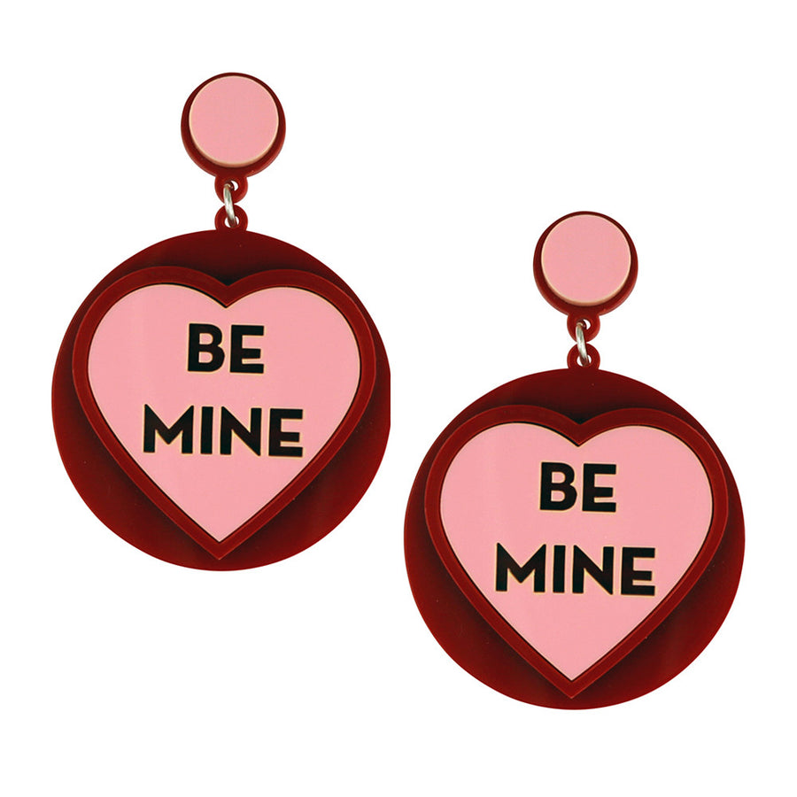 Jennifer Loiselle Be Mine Laser Cut Acrylic Earrings