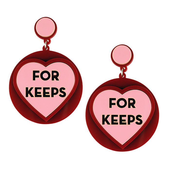 Love Heart Sweet Earrings - For Keeps