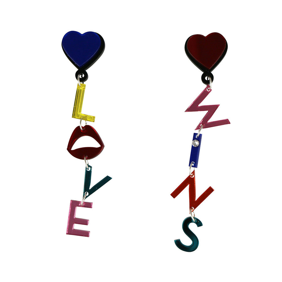 Jennifer Loiselle Love Wins Word Earrings