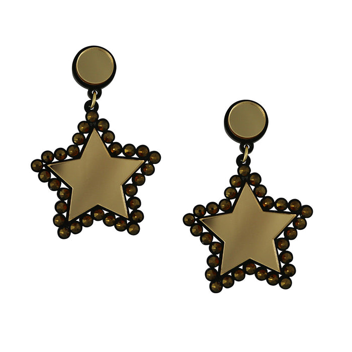 Lucky Star Earrings - Gold
