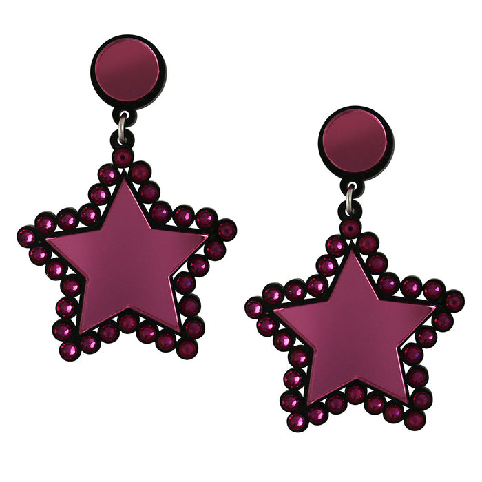 Lucky Star Earrings - Pink