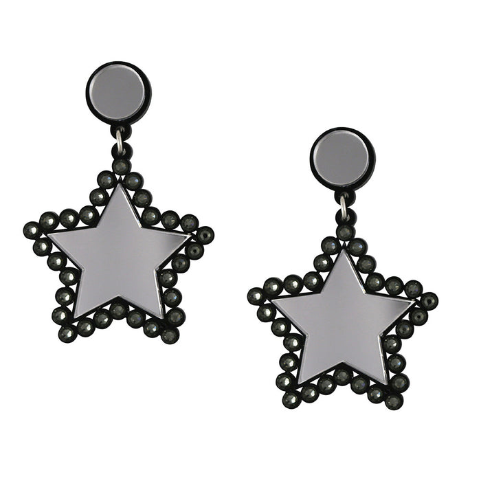 Lucky Star Earrings - Silver